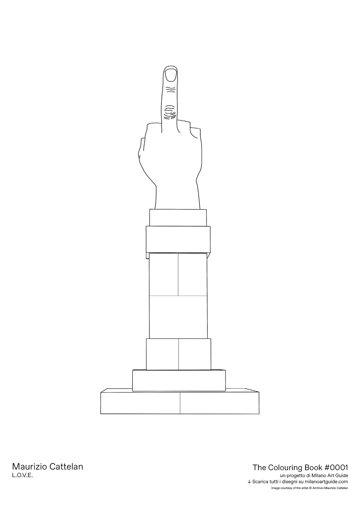 0001_MaurizioCattelan_THECOLOURINGBOOK_MILANOARTGUIDE.png